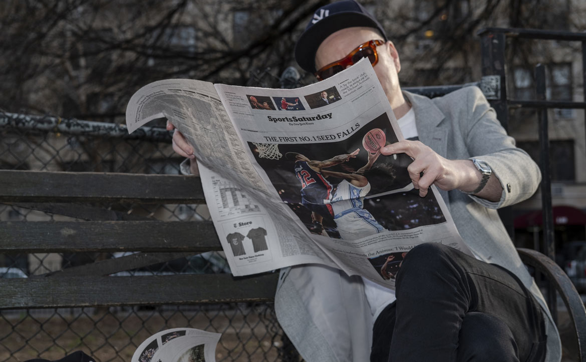 reading the new york times